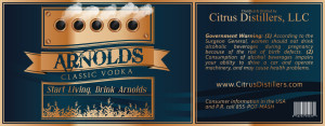 arnolds classic vodka label
